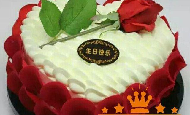 :长沙今日团购:【大众蛋糕屋】12英寸温情玫瑰,全城免费送1,约12英寸,方形圆形