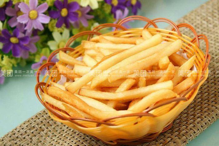 吃薯条的情侣头像