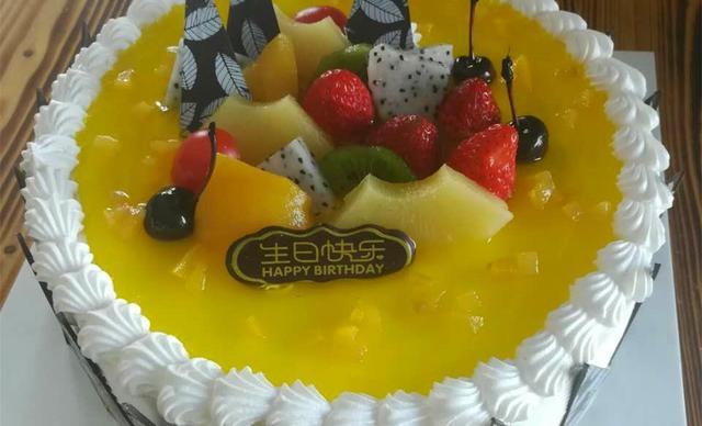 :长沙今日钱柜娱乐官网:【澳麦多伦】创意水果奶油蛋糕多选一1个,约10寸,圆形