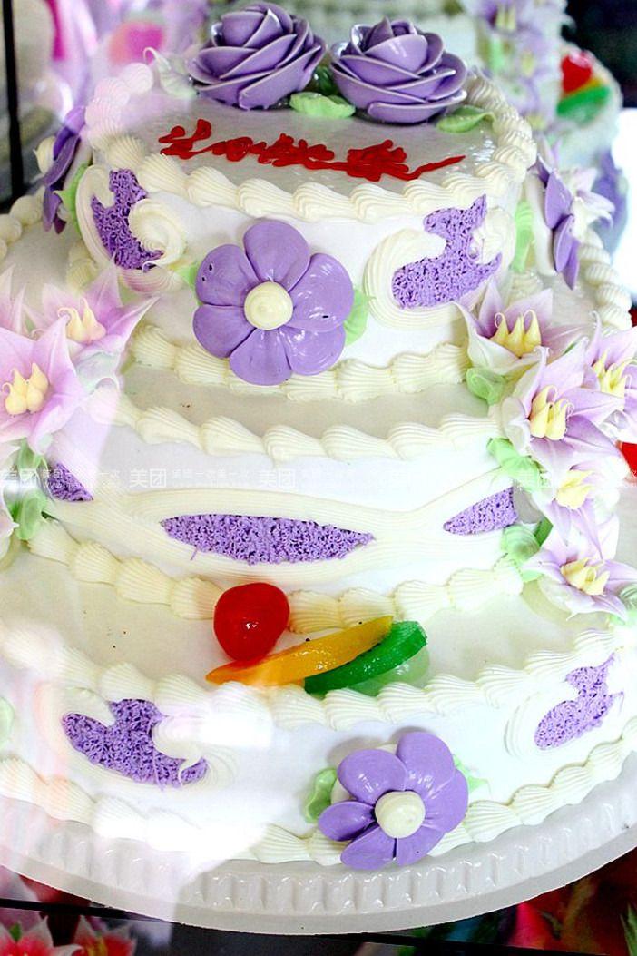 三层鲜奶蛋糕一个