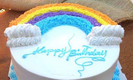 彩虹蛋糕3选1,可免费写字
