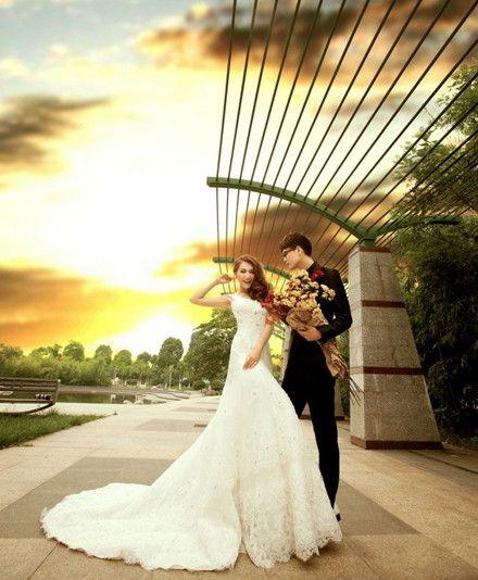 席卷欧式皇家风格,韩国婚纱照
