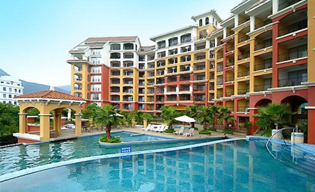 深圳大梅沙凌海酒店公寓双人西班牙风情套餐,含大梅沙海滨浴场