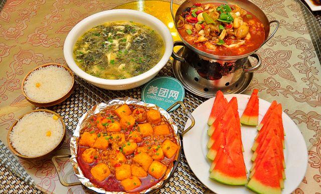 双人餐,特色菜干锅鱼肚等您品尝