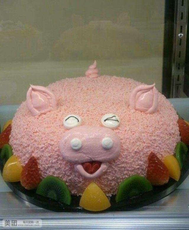 美食团购 蛋糕 茜茜公主  海绵宝宝规格:约8 寸 1,长方形 hallo猪头