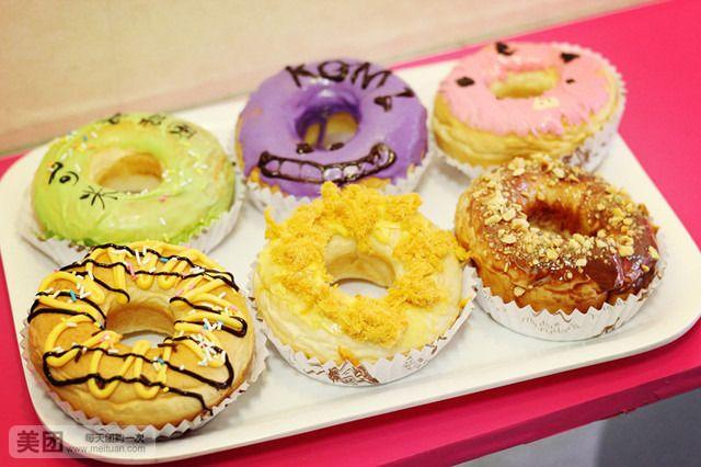 套餐内容 单价 数量/规格 小计 各种口味任选1个 美式甜甜圈系列 (黑