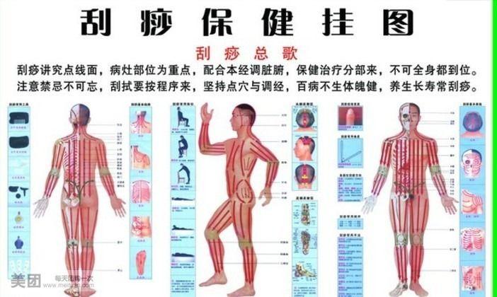 腿部刮痧减肥图解