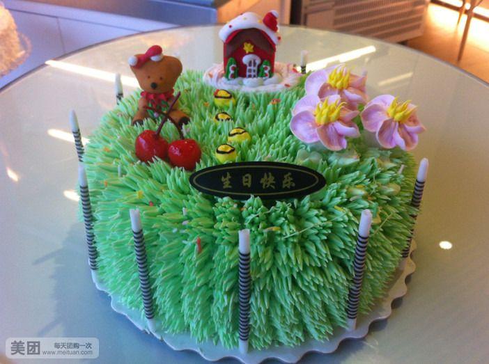 美食团购 甜点饮品 面包花园   10寸蛋糕规格:约 10  英寸 1,圆形