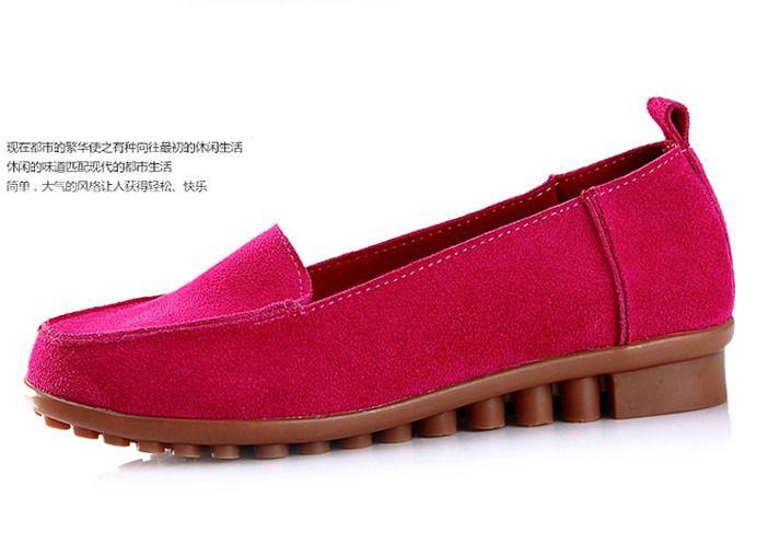 玫瑰红毛毛豆豆鞋搭配图片