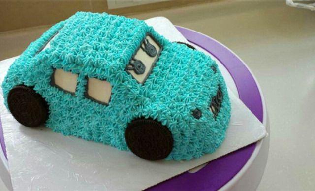 小汽车蛋糕1个,约10英寸,方形