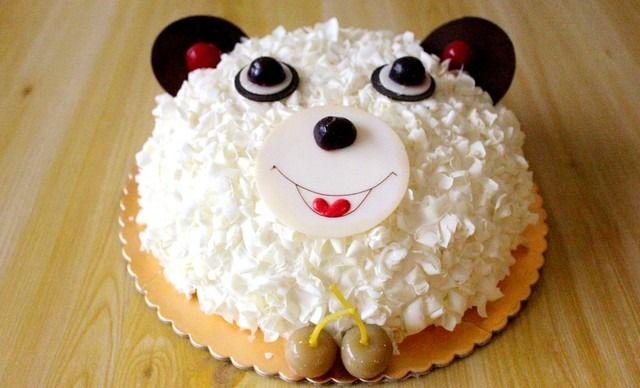 卡通小熊蛋糕1个