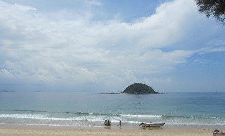 广州长洲岛沙滩图片