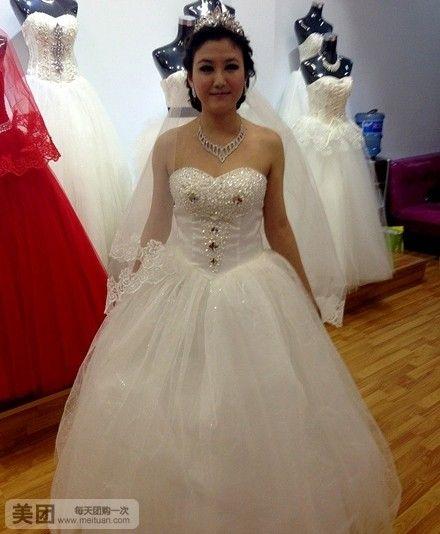 进店便让您享受到一站式选购,华丽的白沙将新娘的清新,高雅,细致,甜美图片