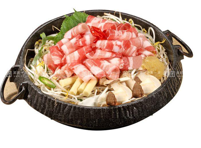 韩式宫中肥牛的火锅