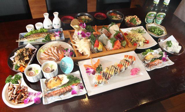 【五四广场商圈】国敦大酒店--红花香谷日本料理2人餐,有赠品,提供免费WiFi,美味不停歇