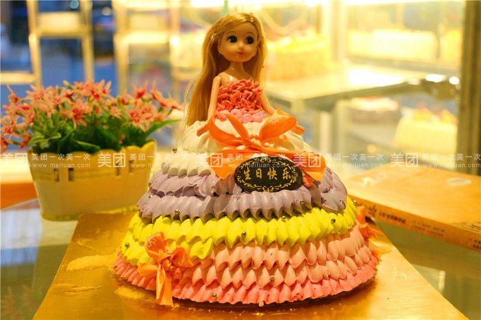 8英寸芭比娃娃蛋糕图片
