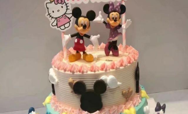 :长沙今日团购:【莱乐斯】米奇卡通创意蛋糕1个,约8英寸,圆形