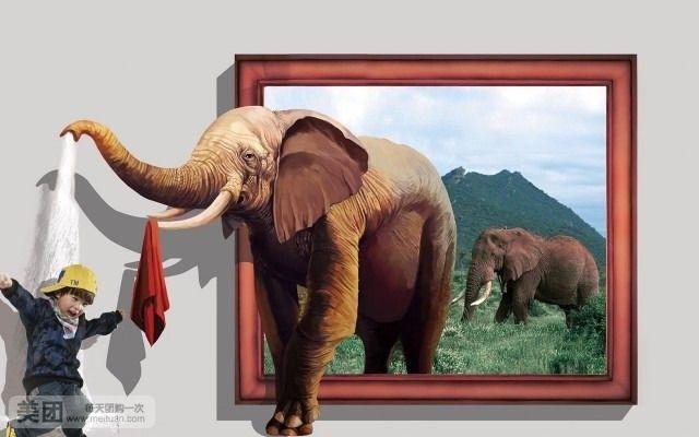 动物避暑儿童画