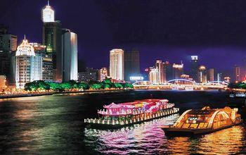 【沿江路沿线/二沙岛】珠江夜游大沙头码头19:00航班一楼普通座+小食+茶水(成人票)-美团