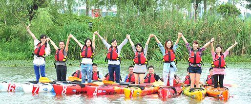 【东钱湖】东钱湖皮划艇45分钟体验票(成人票)-美团