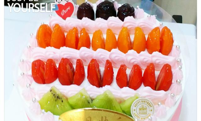 :长沙今日钱柜娱乐官网:【澳麦多伦】品牌奶油水果蛋糕1个,约8英寸,圆形