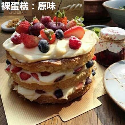 芒果 草莓 奇异果 香蕉千层蛋糕三层裸蛋糕生日蛋糕2环内免费配送 图片