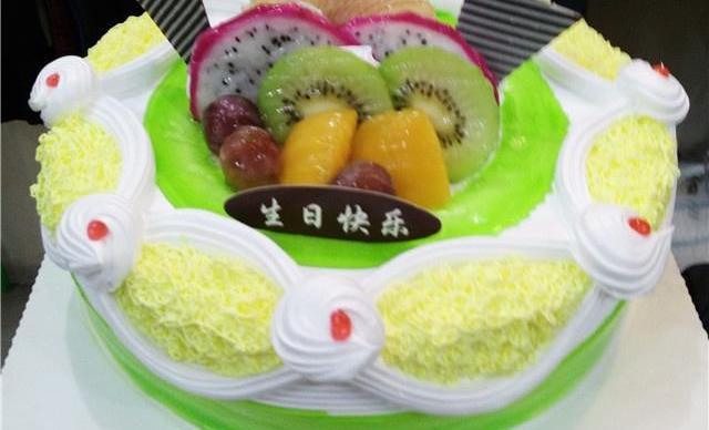 :长沙今日团购:【大众蛋糕屋】14寸夹心水果巧克力蛋糕1个,约14个,圆形