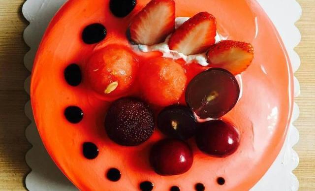 :长沙今日团购:【寻寻蛋糕烘焙坊】动物奶油水果蛋糕1个,约6英寸,圆形