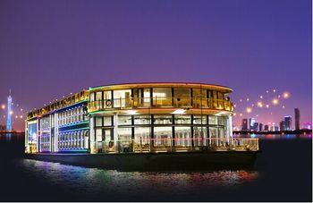 【沿江路沿线/二沙岛】珠江夜游大沙头码头19:50航班一楼普通座+茶水+小食(成人票)-美团