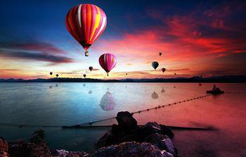 【淳安县】千岛湖天迹热气球成人票+环湖骑行4小时-美团