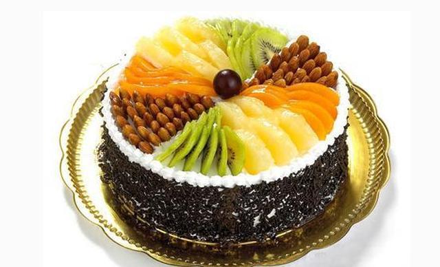 :长沙今日钱柜娱乐官网:【wheat sweet欧风麦甜烘焙坊】水果拼盘10寸1个,约10英寸,圆