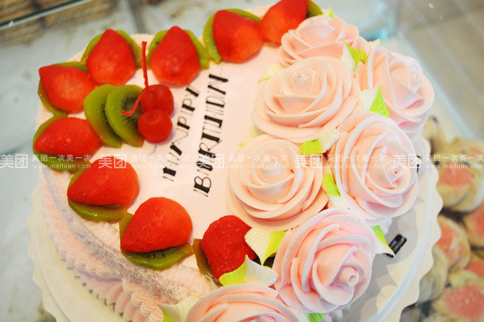 桃心水果蛋糕