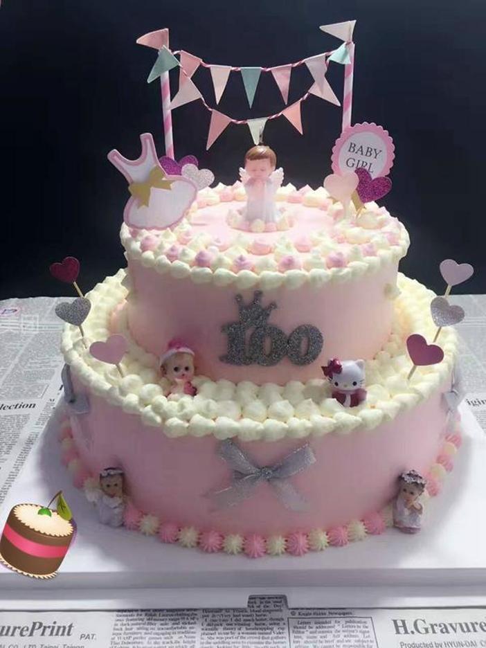 甜点饮品 东昌府区 聊大 考拉蛋糕    幸福猪双层儿童蛋糕   可爱天使