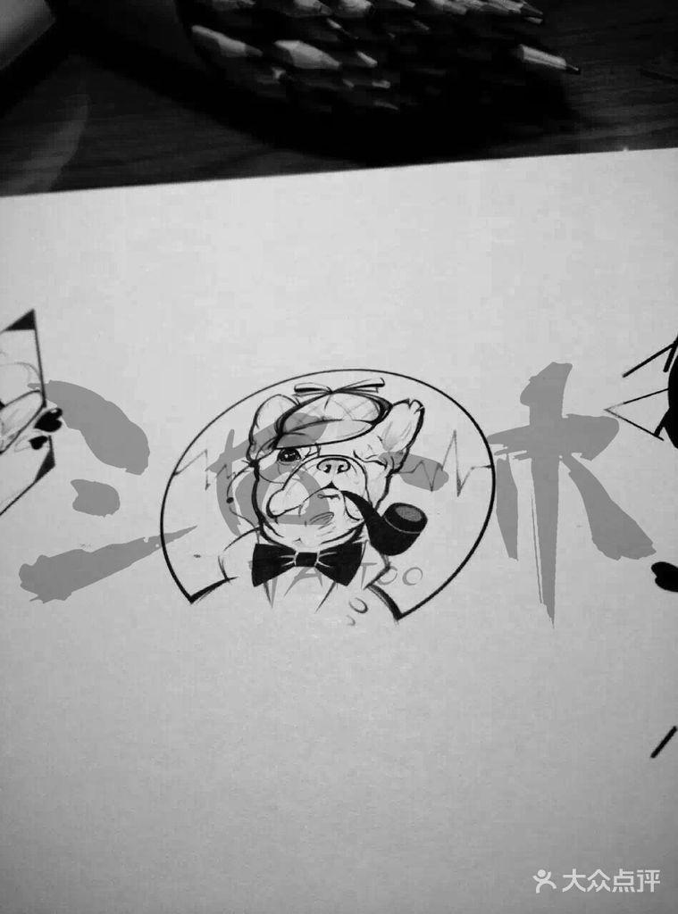 法斗纹身图案大全图片