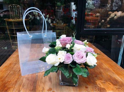 花序花艺花序花艺 方杯桌花 茶几 前台 花色可选 成都美团网