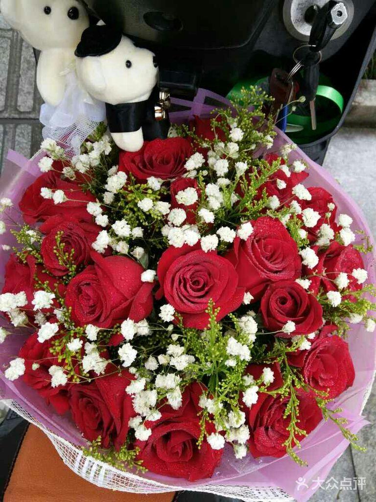 19红玫瑰 2只小熊花束