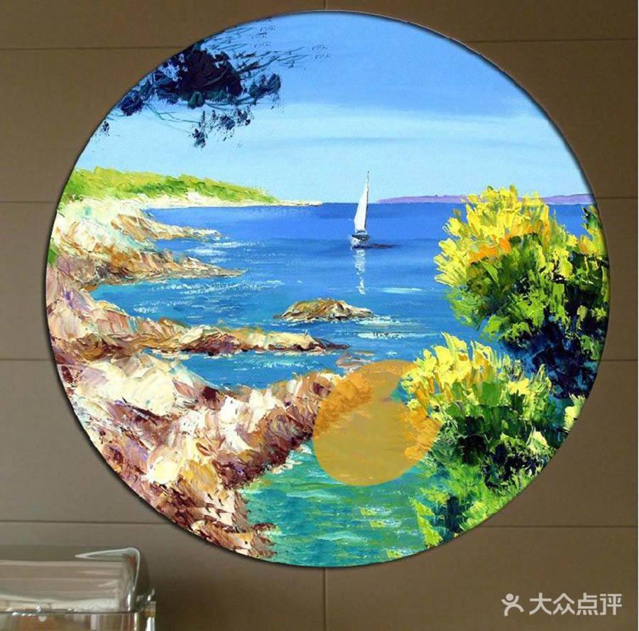 圆形风景油画