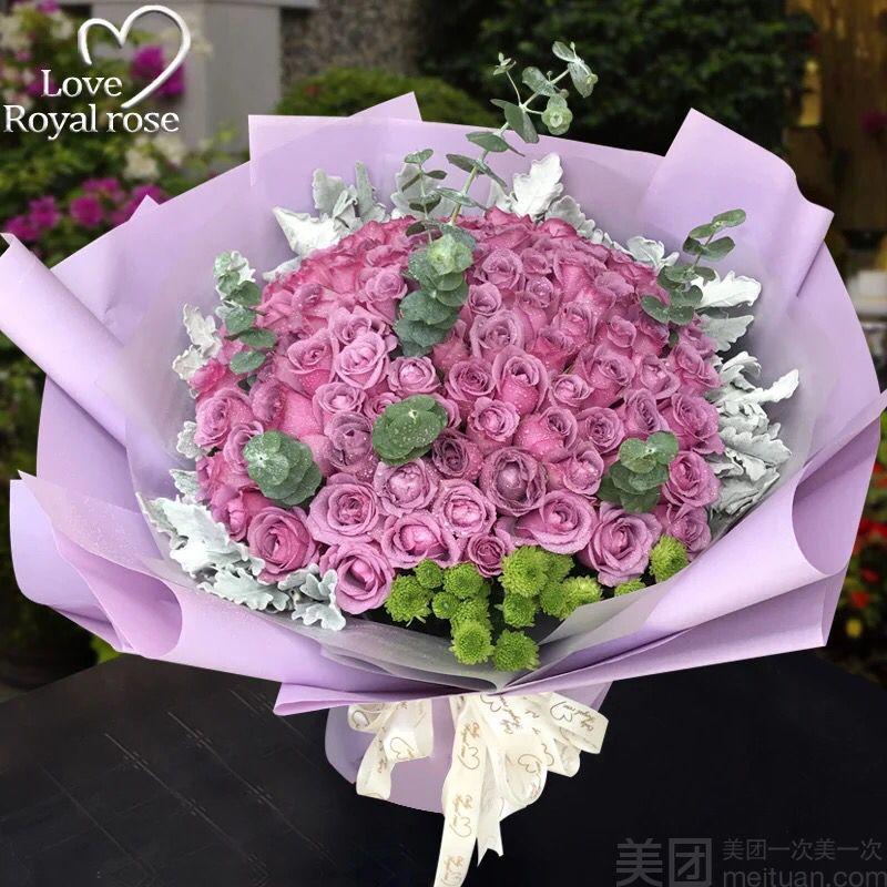 长沙美团网团购 【相遇花开】99都玫瑰花束  分类:鲜花婚庆 商圈