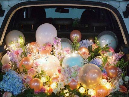 仅售1299元,价值1599元后备箱求婚求爱告白表白鲜花惊喜,当日生产,多