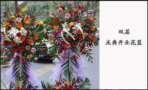 :长沙今日团购:【罗兰花艺】开业庆典双层花篮