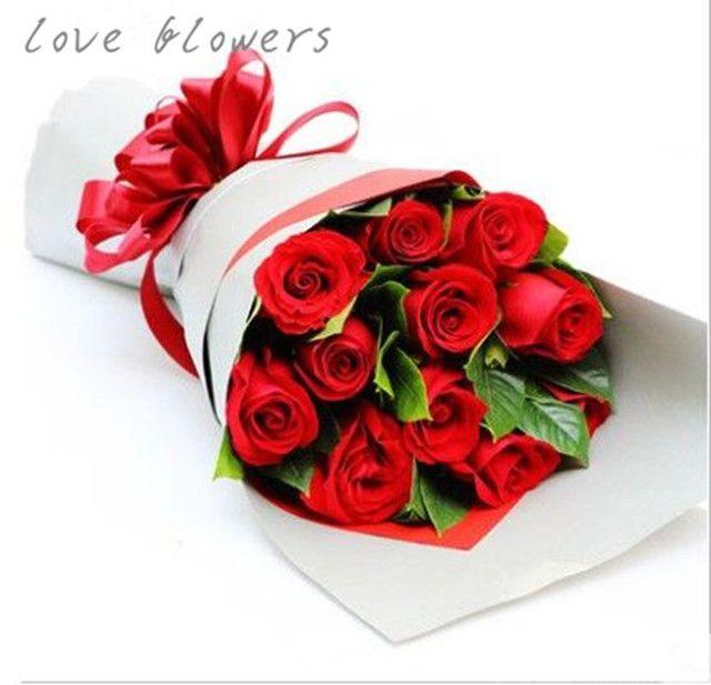 :长沙今日团购:【恋上花花艺】红玫瑰花束11枝各色选择