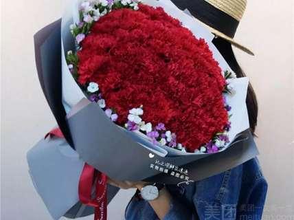 花汇园鲜花坊花汇园鲜花坊-康乃馨韩式时尚花束-北京