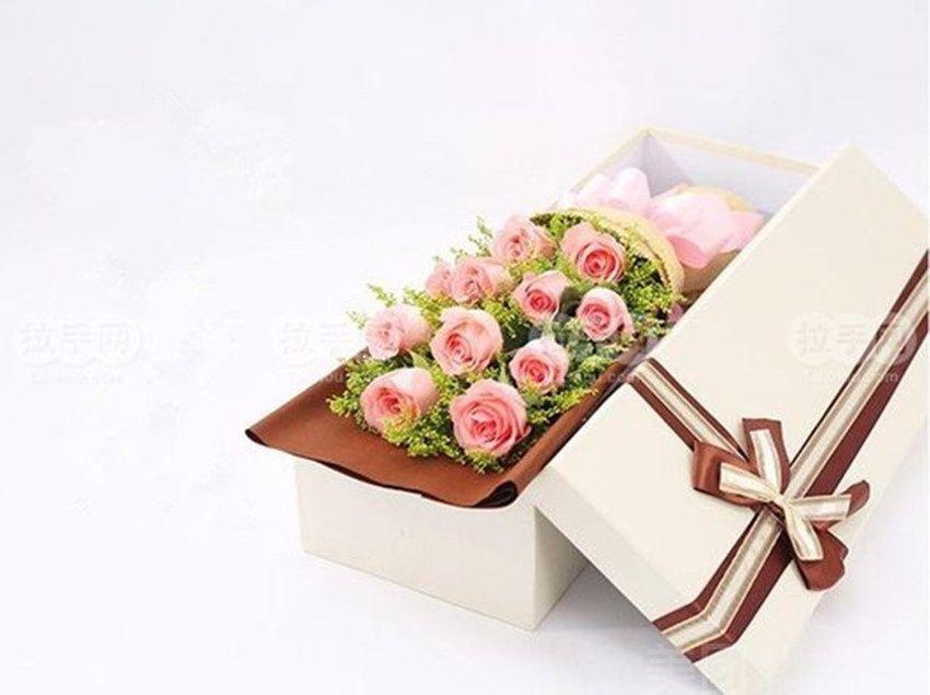:长沙今日团购:【若婷花艺】礼盒装11支A级玫瑰