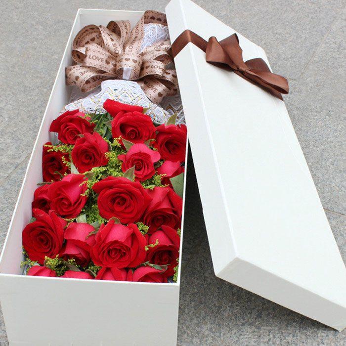 大楼】浪漫鲜花11支玫瑰花束礼盒5选1-浪漫鲜花团购 美团网