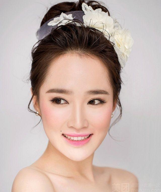 爱出色化妆造型怎么样 团购爱出色化妆造型 单人新娘妆 T台妆1次 美团