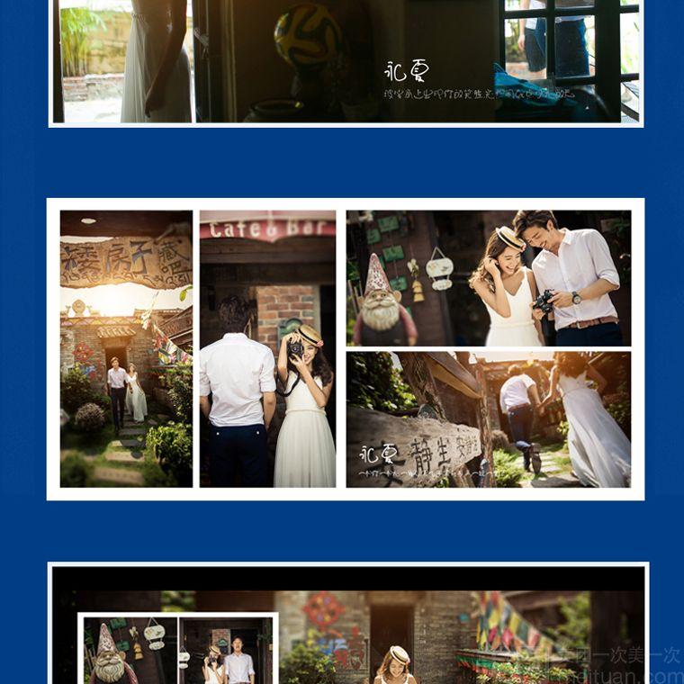 裙主题拍摄/枫叶,银杏树叶浪漫街景主题拍摄/天主教堂-原名圣弥厄尔