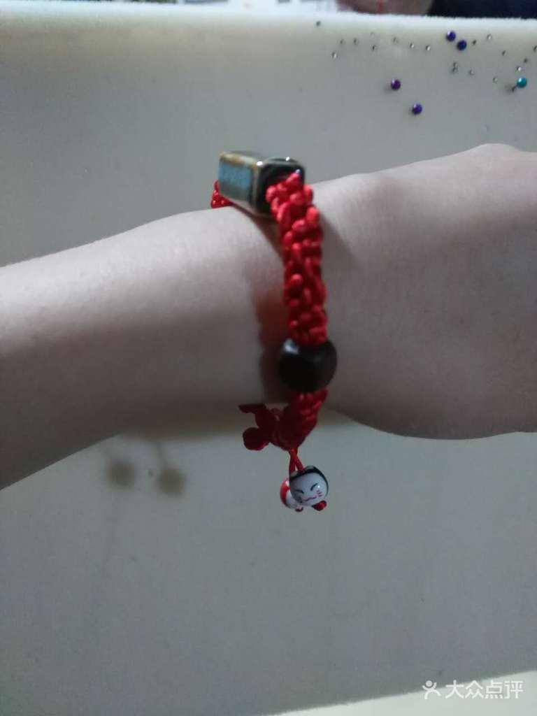 如心形攀缘结手链编法,团锦结镶珠手链,男生藻井结手链编法,中国结