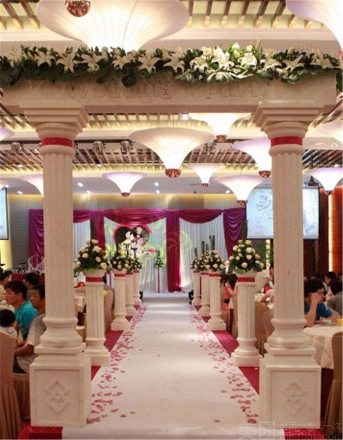 婚礼布置类:      1,个性拱门纱艺绢花门(一个)      2,个性欧式
