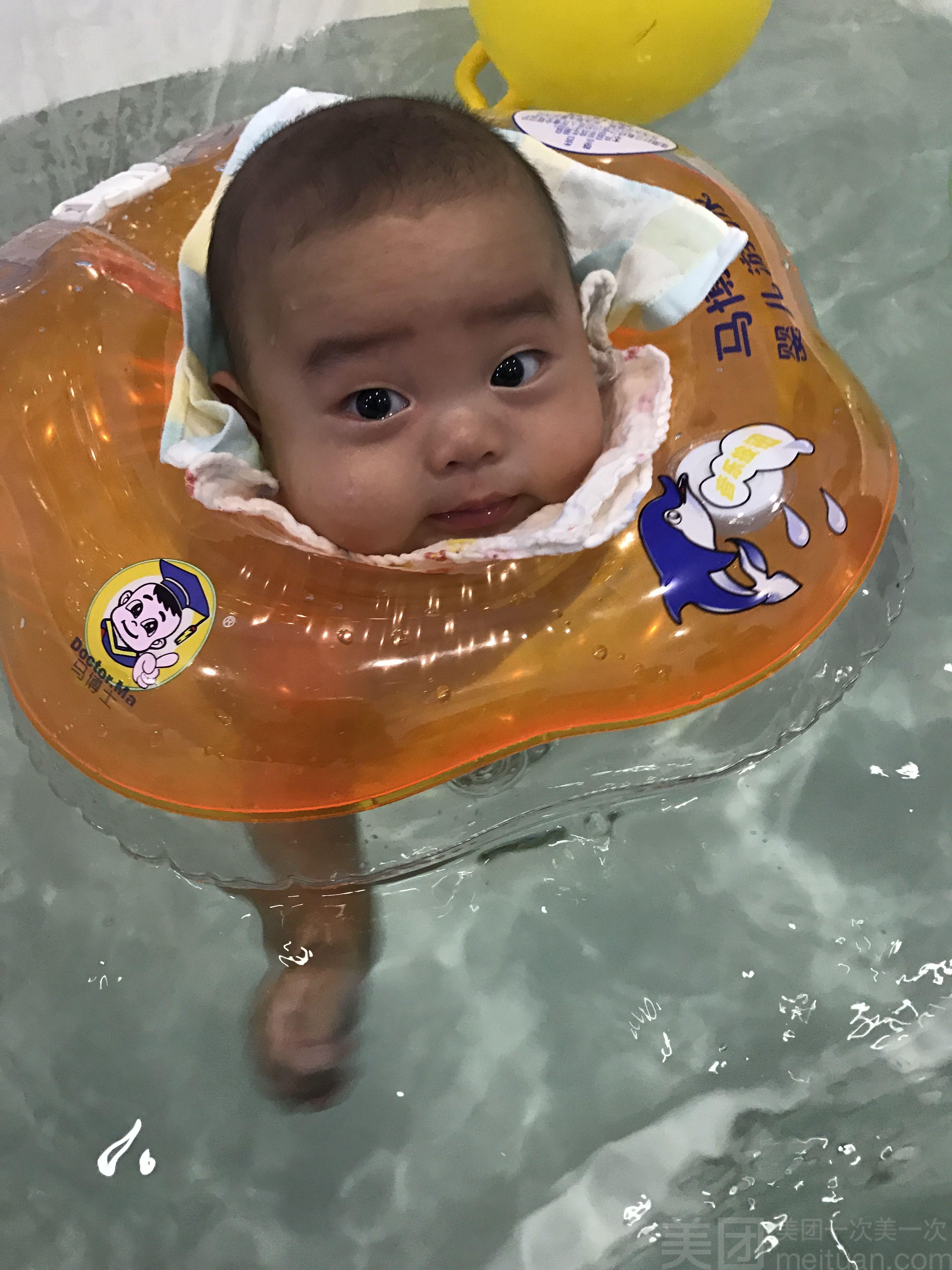 美团网:长沙今日游泳团购:【泡泡精灵婴幼儿游泳乐园】(0-6个月)小池单人单次游泳全套体验