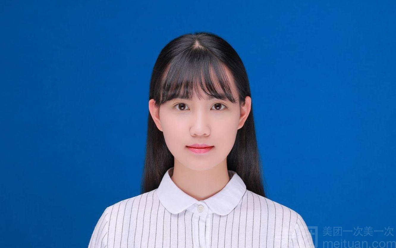 :长沙今日团购:【特拍自拍馆】单人完美证件照(双色背景)